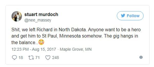 Declaração do vocalista Stuart Murdoch em seu Twitter (Foto: reprodução/ Twitter)