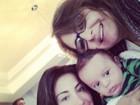 Leilah Khury, mãe de Jaque, posa com a filha e o neto: 'Selfie familiar'