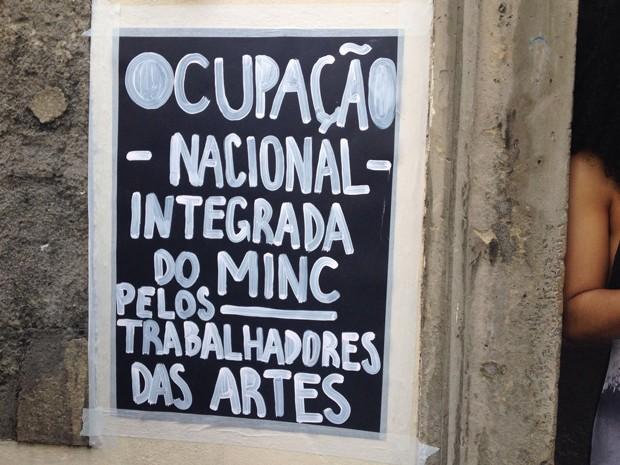 Manifestantes ocupam prédio do Ministério da Cultura em Salvador (Foto: Natally Acioli/ G1 BA)