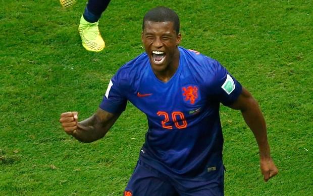 Georginio Wijnaldum gol jogo Brasil x Holanda (Foto: Reuters)