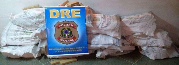 Parte da droga apreendida no caminhão (Foto: Polícia Federal/Divulgação)