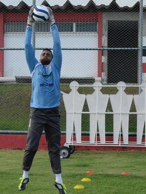 Goleiro Rodirgo Cigano do River Plate-SE (Foto: João Áquila, GLOBOESPORTE.COM)