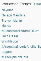 Trending Topics no Mundo às 17h01 (Foto: Reprodução/Twitter.com)