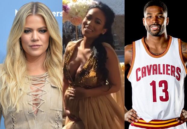 Khloé Kardashian, Jordan Craig e Tristan Thompson (Foto: Getty Images e Reprodução)