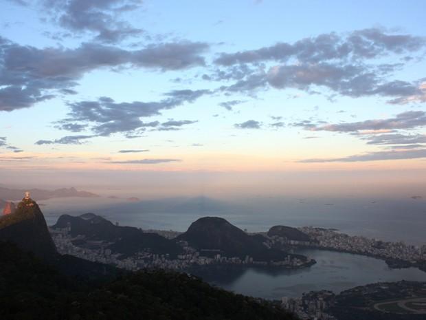 Pôr do sol no Rio de Janeiro (Foto: Marcos Estrella/TV Globo)