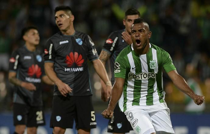 Borja, Atletico Nacional x Bolivar (Foto: RAUL ARBOLEDA / AFP)