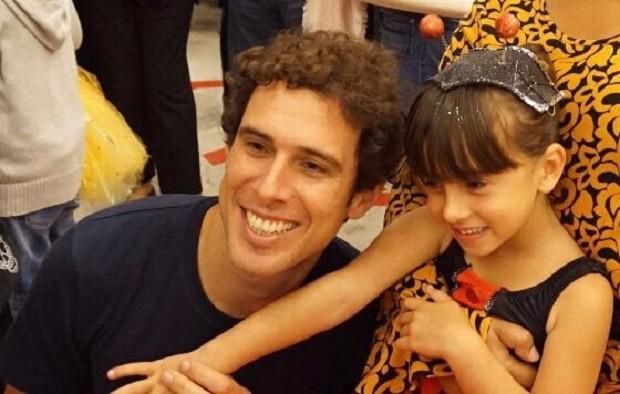 Bruno e a filha Júlia (Foto: Arquivo Pessoal)