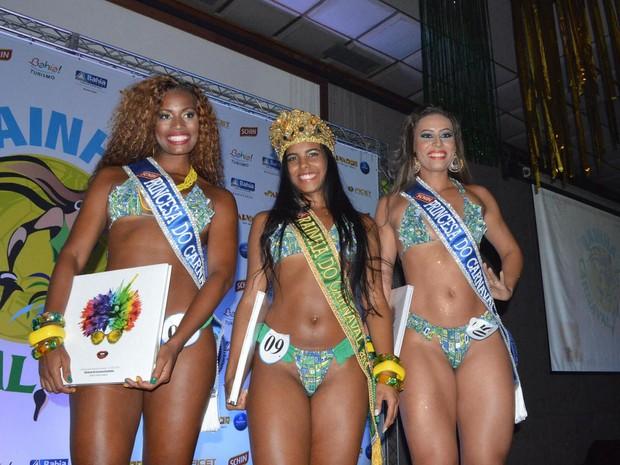 Rainha e princesas do Carnaval 2014 em Salvador (Foto: Gabriel Carvalho/ Divulgação)