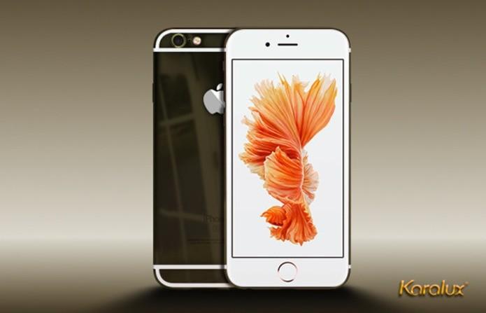 Versão iPhone 6S Black Gold da Karalux (Foto: Divulgação / Karalux)