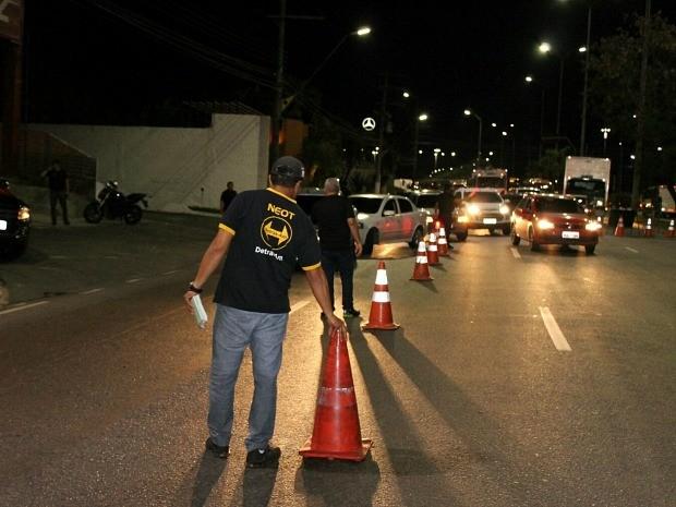 Fiscalização da Lei Seca foi realizada durante o fim de semana (Foto: Divulgação/Detran-AM)