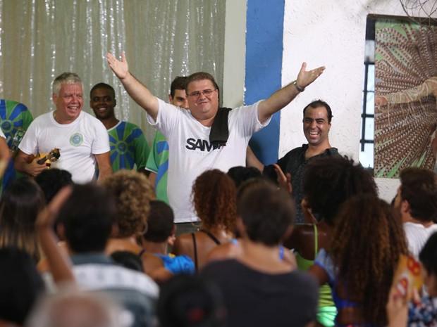 Carlos Alexandre Pacheco comemora a vitória (Foto: Gshow)