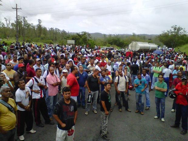 Sindicato na BA denuncia morte de petroleiro por benzeno e faz protesto (Foto: Sindipetro/Divulgação)