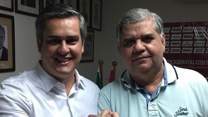 Beto Santos e Walmir Nunes América-RN (Foto: Canindé Pereira/Divulgação)