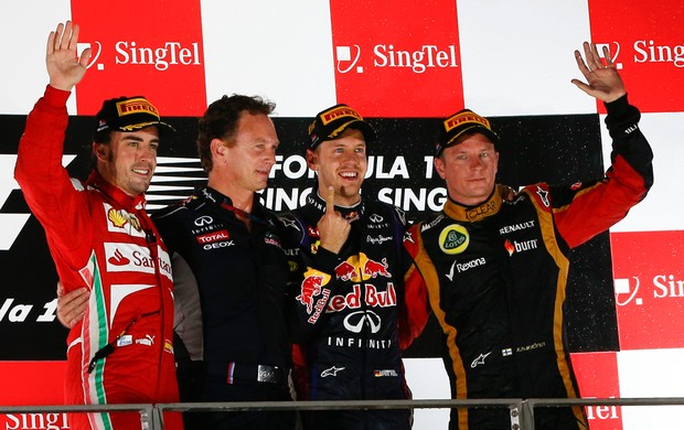 vettel alonso Raikkonen  cingapura formula 1 (Foto: AP)