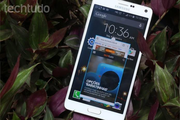 Galaxy Note 4 pode ser encontrado com preço de R$ 2.999 na loja oficial da Samsung (Foto: Lucas Mendes/TechTudo)