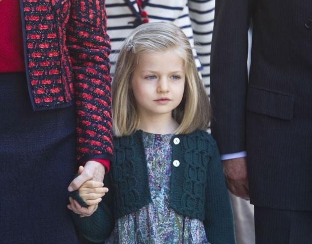 A infanta Leonor em foto de abril de 2012 (Foto: Jaime Reina/AFP)