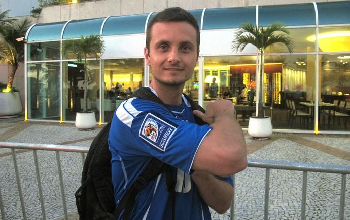 Kenan ex-fisioterapeuta Bósnia (Foto: Thiago Soares)