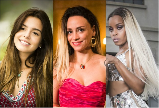 'A regra do jogo': cabelos claros com a raiz escura é uma das tendências (Foto: TV Globo/Divulgação)