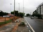 Mulher perde controle de veículo e invade pista de bicicross em Roraima
