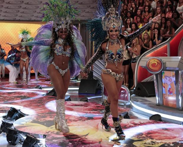 Daiana e Nayra foram escolhidas na segunda fase (Caldeirão do Huck/TV Globo)