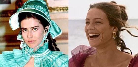 Maitê Proença e Luana Piovanni viveram a personagem história nas produções A Marquesa de Santos (1984), da Manchete, e em O quinto dos infernos (2002), na Globo (Foto: Reprodução)
