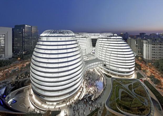 Edifício Galaxy Soho, em Pequim (Foto: Reprodução/Deezen)