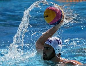 Grummy foi o destaque brasileiro no polo aquático na estreia do Mundial de Budapeste (Foto: Satiro Sodré/SSPress/CBDA)