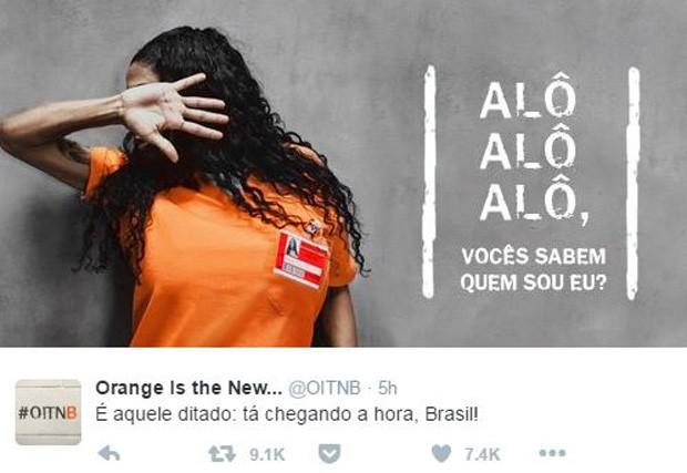 Inês Brasil (Foto: Twitter / Reprodução)