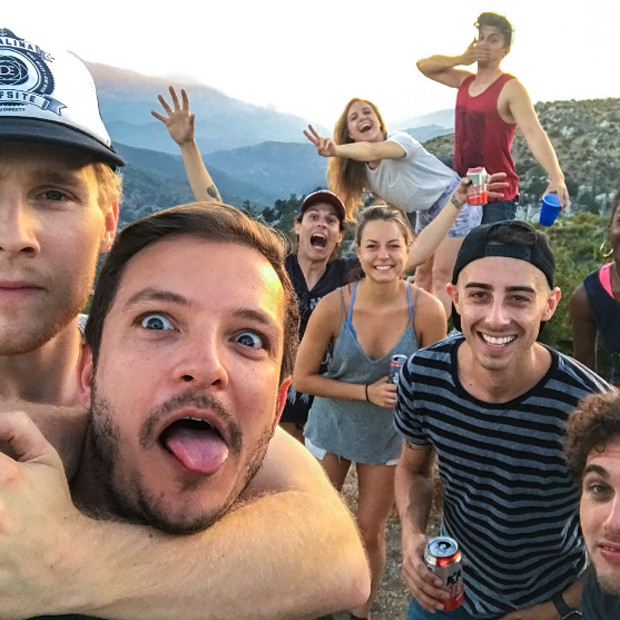 Paulo Nigro entre amigos na Califórnia (Foto: Reprodução/Instagram)