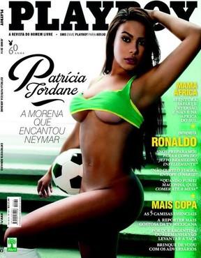 Patricia Jordane na capa oficial da Playboy  (Foto: Divulgação)