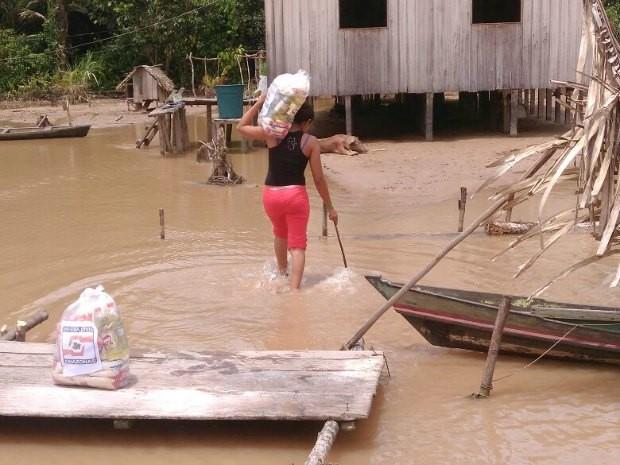 1.651 famílias são impactadas pela enchente em Ipixuna  (Foto: Divulgação/Defesa Civil)