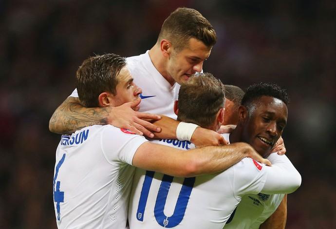 Inglaterra x Eslovênia - comemoração gol (Foto: Getty)
