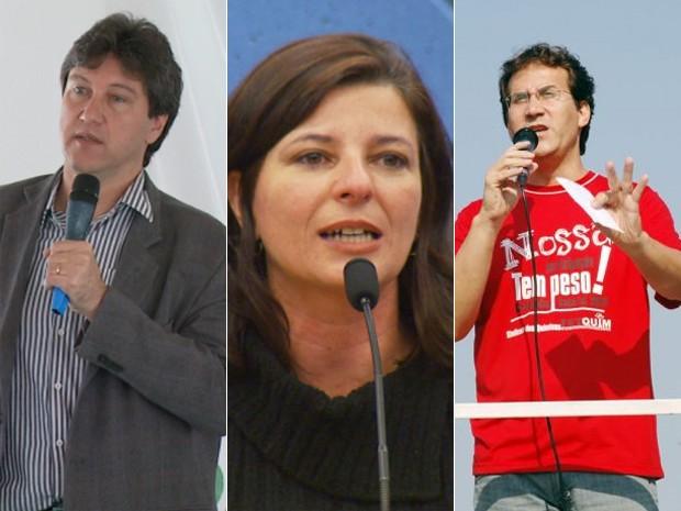 Pré-candidatos a prefeito do PV, PSTU e PSOL em Campinas (Foto: Reprodução)