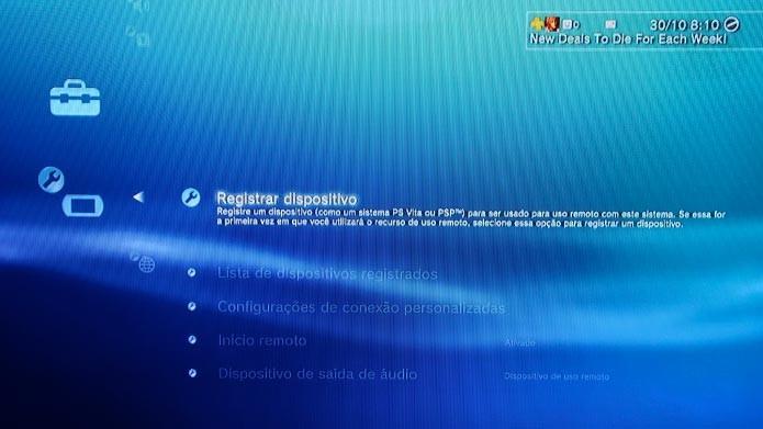 Use o PSP ou Vita para jogar os games de PS3 (Foto: Reprodução/Tais Carvalho)