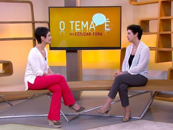 O tema é estudar fora - Tereza Fulfaro (Foto: Globo)