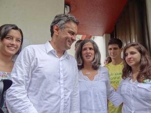 Aécio Neves se reúne no Recife com a família de Eduardo Campos (Foto: Luna Markman)