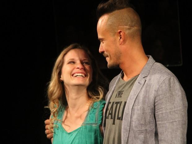 Fernanda Rodrigues e Paulinho Vilhena (Foto:  Daniel Delmniro / AgNews)