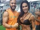 Gracyanne Barbosa malha com Belo: 'Sempre bom treinar com meu Tudão'