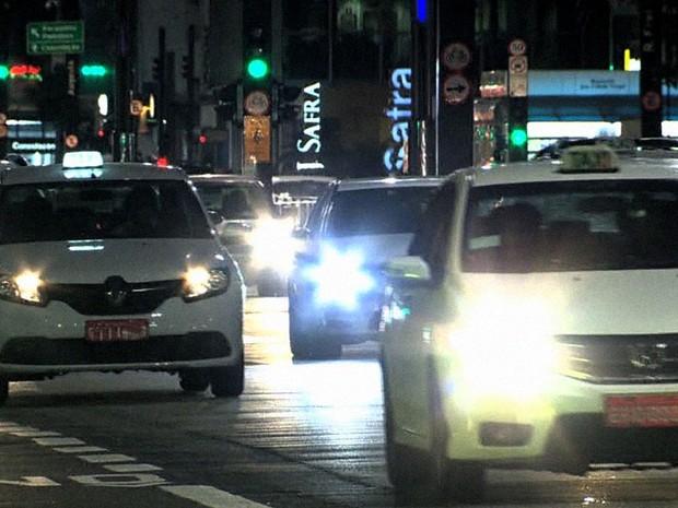 Táxi SP Uber JG (Foto: Reprodução: TV Globo)