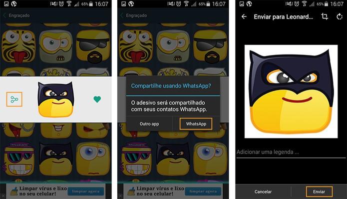 Envie para seu amigo ou grupo do WhatsApp pelo Android (Foto: Reprodução/Barbara Mannara)
