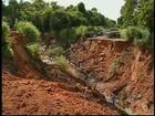 Estragos da chuva prejudicam trajeto em estradas da região Centro-Oeste