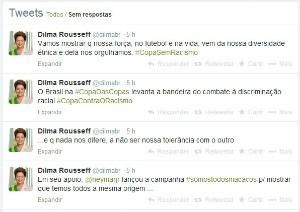 Presidente Dilma Rousseff comenta ato racista sofrido por Daniel Alves. (Foto: Reprodução/Twitter)