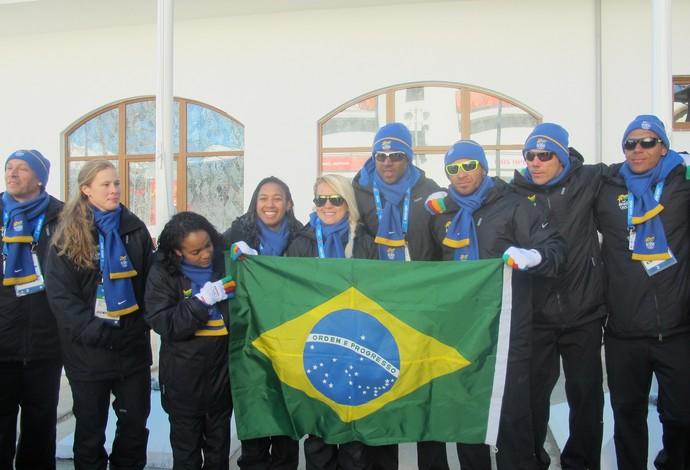 Cerimônia Brasil Jogos de Inverno Sochi (Foto: Amanda Kestelman)