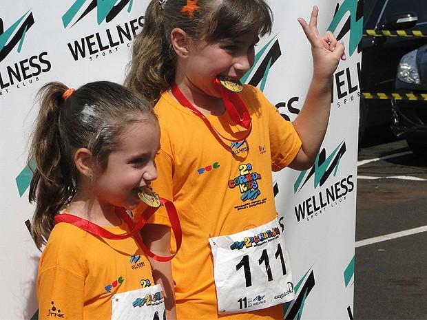 Crianças participam de corrida na manhã deste domingo (21) em Ribeirão Preto (Foto: Rodolfo Tiengo/G1)