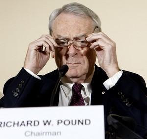 Richard Pound coletiva da Wada crise atletismo (Foto: Salvatore Di Nolfi/AP)