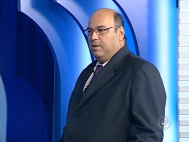 Prefeito de Avaré, Poio Novaes, em entrevista nesta terça-feira (Foto: Reprodução / TV TEM)