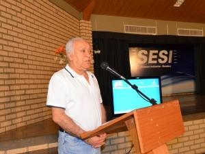 Diretor da Rede Amazônica em Roraima fez discurso de agradecimento (Foto: Bruna Cássia/Rede Amazônica)