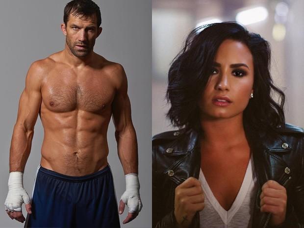 Luke Rockhold e Demi Lovato (Foto: Reprodução/ Instagram)