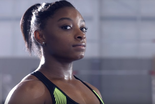 Simone Biles em novo vídeo da Nike (Foto: Reprodução)
