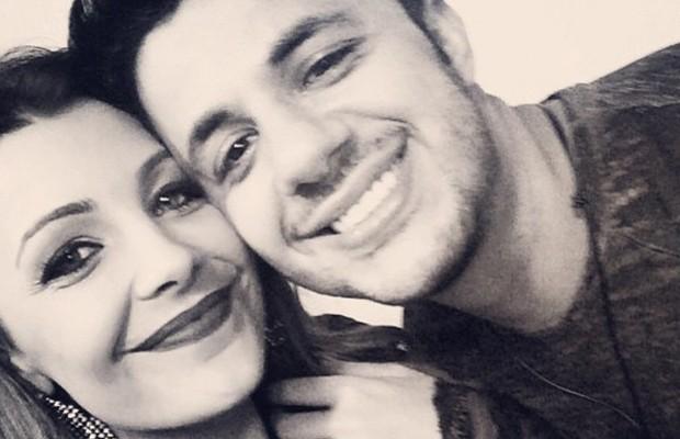 Cecília Ribeiro com o cantor Cristiano Araújo (Foto: Reprodução Redes Sociais)